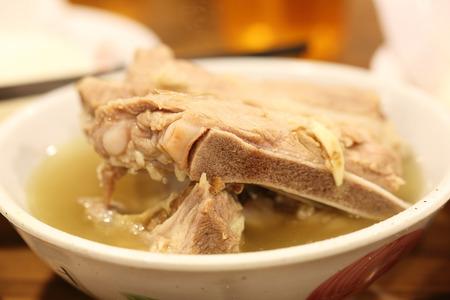 teh: Bak Kut Teh - Malaysian stew of pork and herbal soup Stock Photo