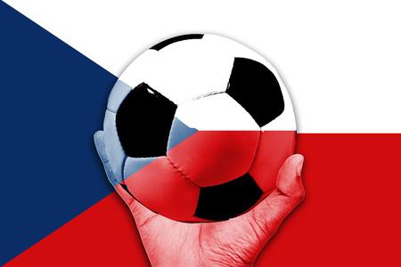 Handle Ball on the Czech Republic flag background Stok Fotoğraf - 43505245