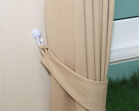 cream colored: Modern cream colored curtains curtain with hook on warm feeling
