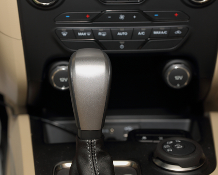 gearshift: Automatic gearshift in luxury car
