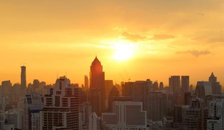 city scape: Sunset over city scape