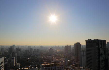 cityscape: Cityscape sunrise at morning time