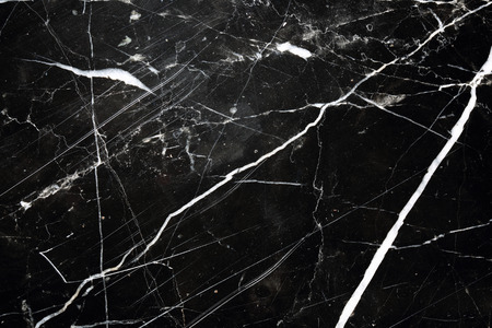 Black marble pattern texture, white pattern, trimmed with black marble floor general  for background and design product. Banco de Imagens