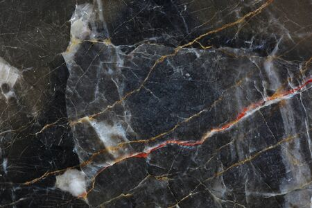 intrinsic: Patterned natural of dark gray marble (gold russia) texture. Stock Photo