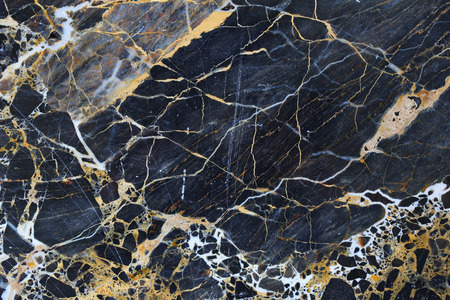 Gold patterned natural of dark blue gray marble pattern background, abstract marble texture. Stock Photo