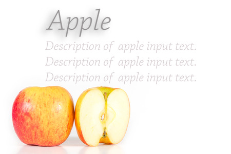 Apples isolated on white background - use for input text or product.