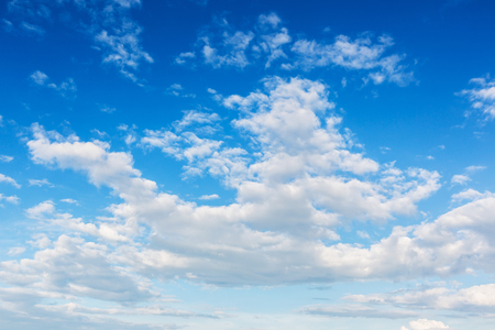 soft focus blue sky and clouds view, natural background Stock Photo
