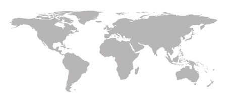gray world map background, vector illustration