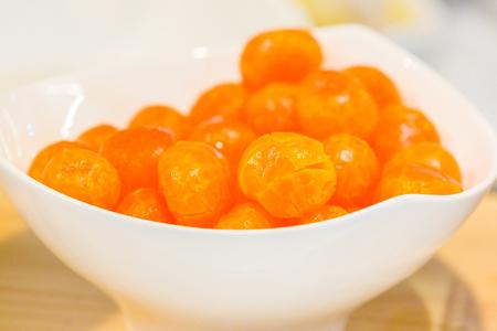 closeup of Salted egg yolk