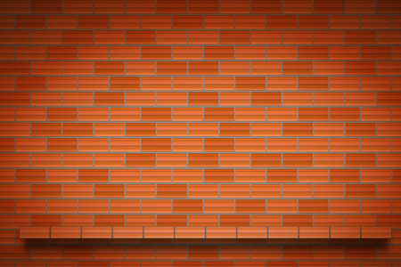 brick wall counter template background or texture vector illustration.