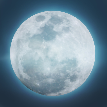 Detailed of Realistic full moon. vector illustration. Stok Fotoğraf - 115010378