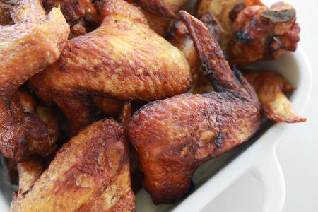 deep fried: Homemade deep fried chicken wings