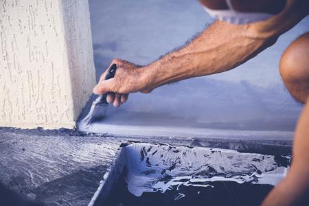 Kézi festés garázzsal, puha szelektív fókusz, tonizálás