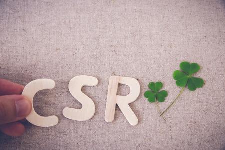 CSR zöld levél, másolás tér háttér, tonizáló