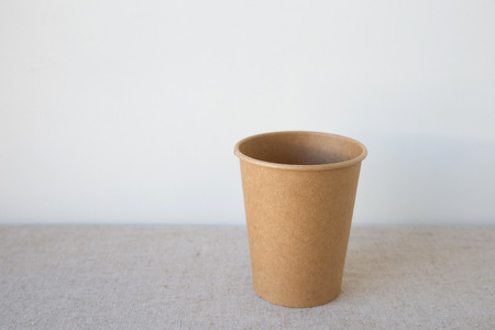 coffee cups: brown coffee paper cups