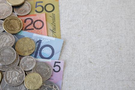 australian money: Australian money, AUD  selective focus copy space background Stock Photo