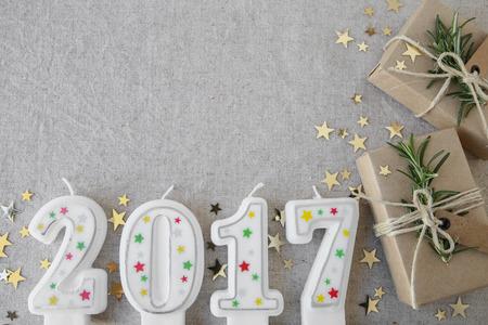 2017 gyertyák eco jelenet dobozok, újév másolat tér háttér