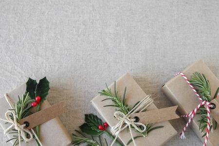 Eco karácsonyi ajándék doboz, másolás tér háttér