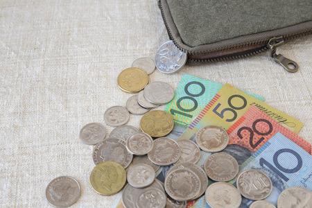 australian money: Australian money, AUD with small money pouch