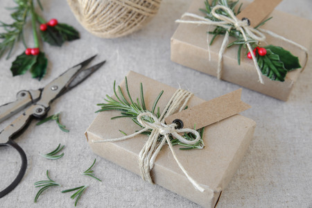 herbs boxes: Eco craft Christmas gift boxes