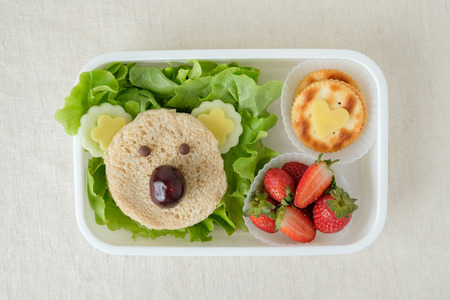 Koala bear lunch box, fun food art for kids 版權商用圖片 - 76459297
