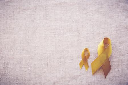 옐로우 골드 리본, 육아 인식, 뼈 암, 간암, 방광암, 소아암 인식