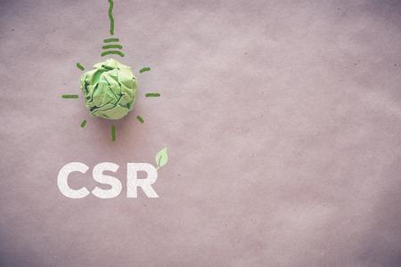 企業の社会的責任 CSR と緑の紙電球