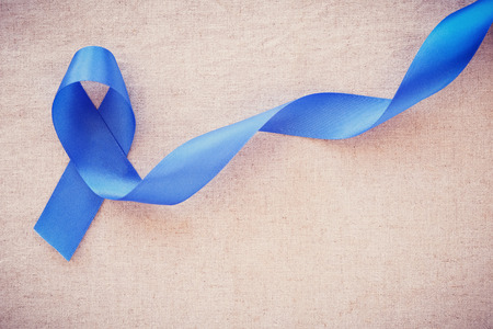 Blue ribbon, Colon Cancer, Colorectal Cancer, Child Abuse awareness, world diabetes day Stock fotó