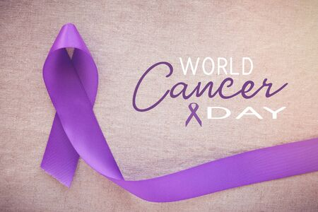 Purple ribbons, World cancer day