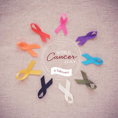 화려한 리본, 암 인식, 세계 암의 날
