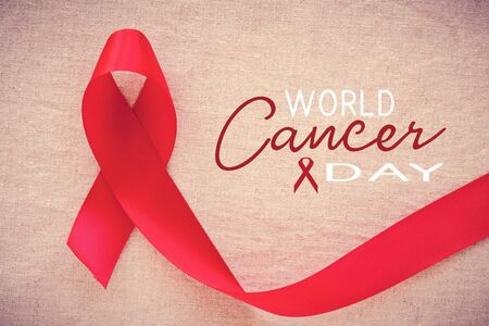 Red ribbon, world cancer day