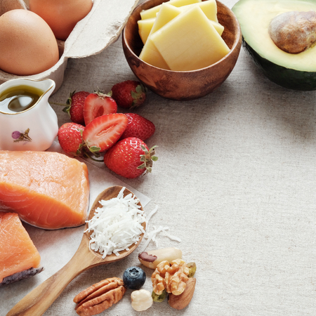 ketogenic diet, low carb, high good fat ,  healthy food
