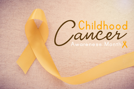 yellow gold ribbon, world childhood cancer awareness month