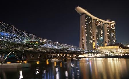 Helix bridge and Marina Sand Hotel