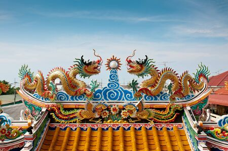 Couple of dragons on the roof