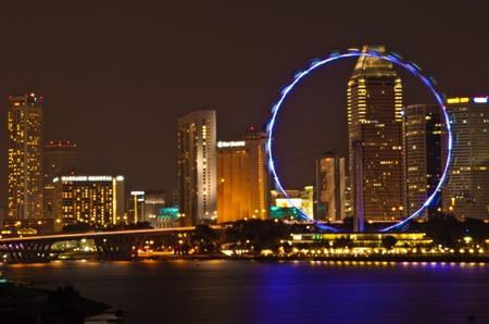 Singapore flyer, Marina Bay, Singapore