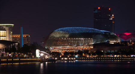 SINGAPORE - JAN 23: The Esplanade Convention Centre at Marina Bay Jan 23, 2011 in Singapore.