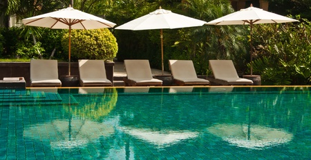 Swimming Pool in Hotel, Hua-Hin, Thailand