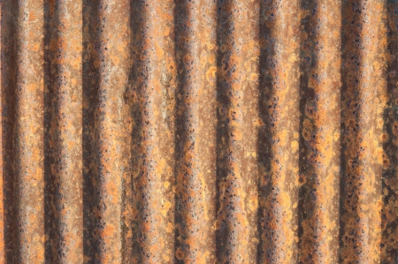 Pattern of rusted zinc roof  photo