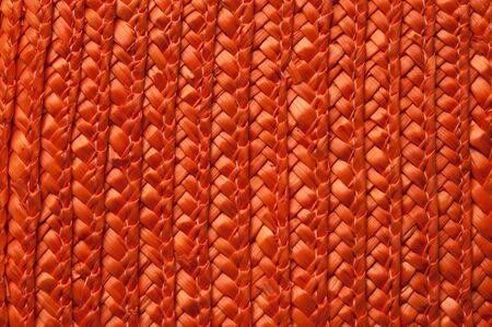 Close-up of weave  orange color  Stock Photo