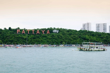 Pattaya city in the evening time