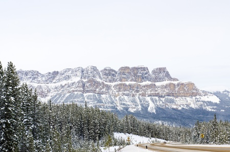The road in the Banff national park with Rockies Mountain background Stock Photo - 16720963