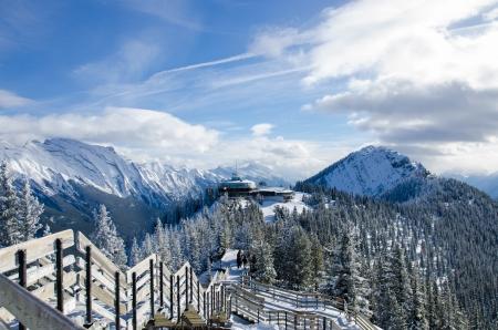 Summit of Sulphur mountain, Banff, Alberta,  Canada