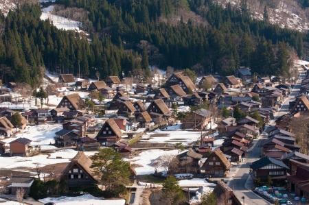 Japan - Aerial view of Shirakawa-Go,  Gifu prefecture