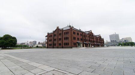 Red brick warehouse, Yokohama, Japan Stock Photo