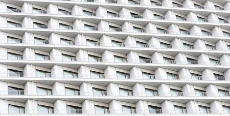 background of hotel balconies