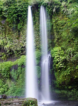 Sedang Gile Waterfall near Rinjani, Senaru, Lombok, Indonesia