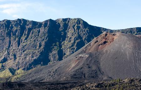 Jari Baru Volcano inside Rinjani mountain , Lombok, Indonesia Stock Photo