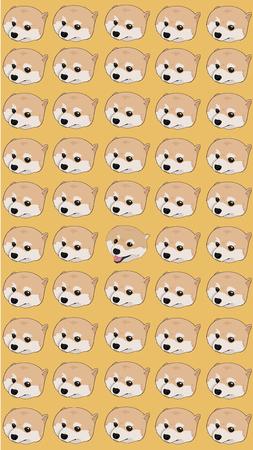 Pomeranian Dog Cute pattern  イラスト・ベクター素材