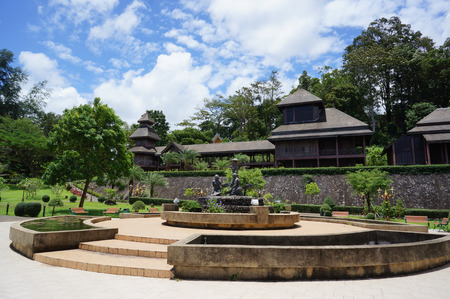 reproduce: 5th kings throne  reproduce and public garden in ranong province, thailand Editorial